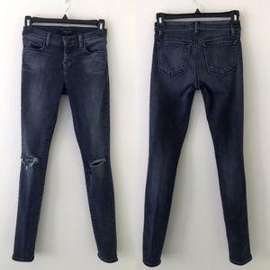 J BRAND Gray Super Skinny Distressed Jeans 24